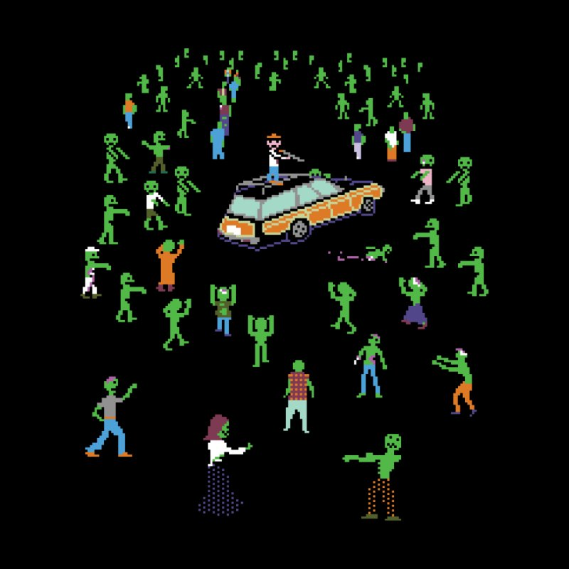 Organ Trail Zombie Horde Men's T-Shirt by The Men Who Wear Many Hats