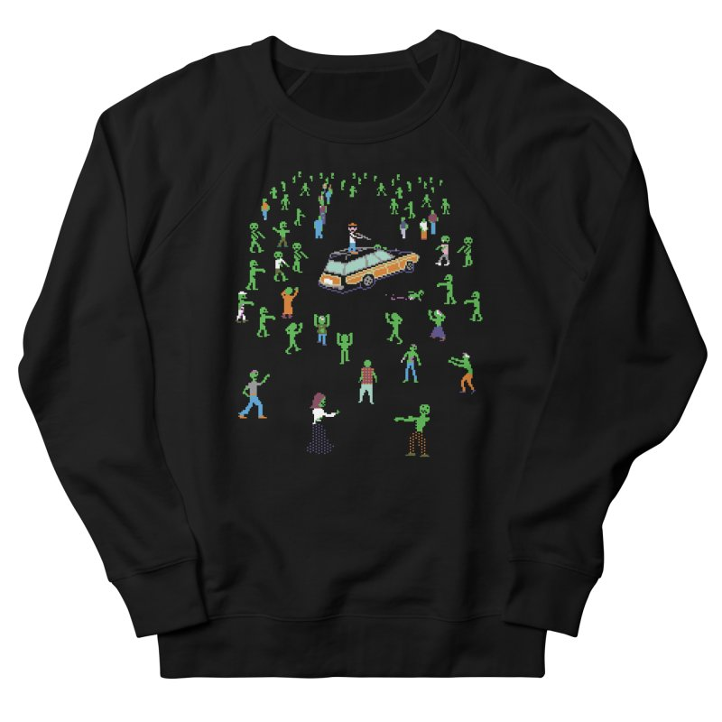 Organ Trail Zombie Horde Men's French Terry Sweatshirt by The Men Who Wear Many Hats