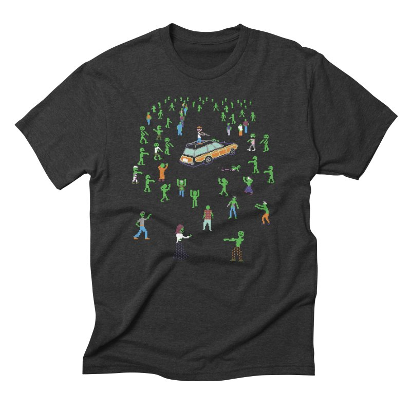 Organ Trail Zombie Horde Men's Triblend T-Shirt by The Men Who Wear Many Hats