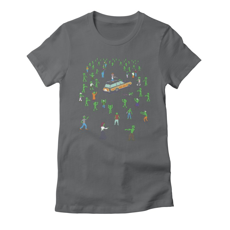 Organ Trail Zombie Horde Women's Fitted T-Shirt by The Men Who Wear Many Hats