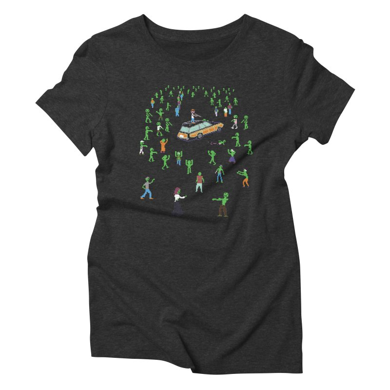 Organ Trail Zombie Horde Women's Triblend T-Shirt by The Men Who Wear Many Hats