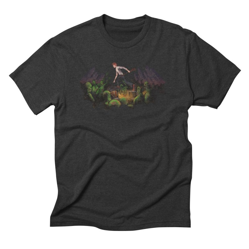 Rise Above The Dead Men's Triblend T-shirt by The Men Who Wear Many Hats