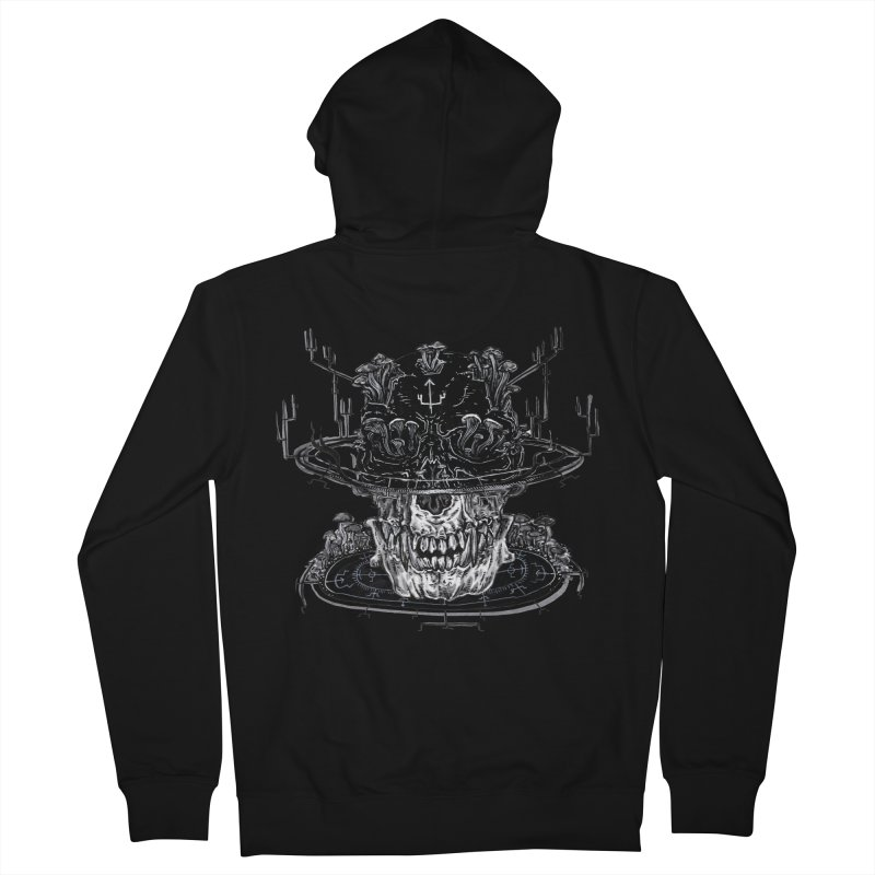 SHAPESHIFT in Men's Zip-Up Hoody Black by Haunted Meat