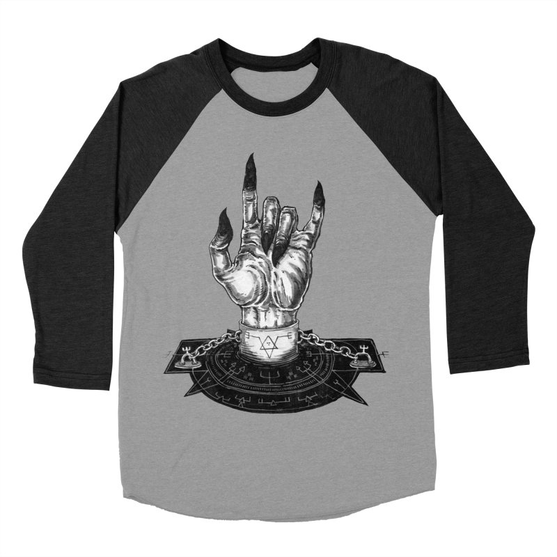 DEMONOLOGY Men's Baseball Triblend T-Shirt by Haunted Meat