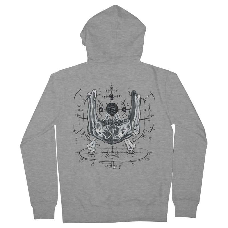 SPELLCRAFT Men's French Terry Zip-Up Hoody by Haunted Meat