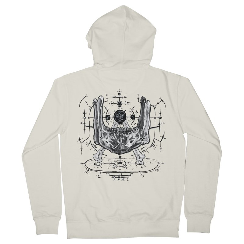 SPELLCRAFT in Men's Zip-Up Hoody Heather Oatmeal by Haunted Meat