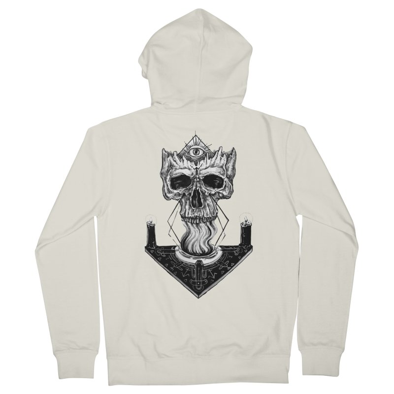 NECROMANCY Men's Zip-Up Hoody by Haunted Meat