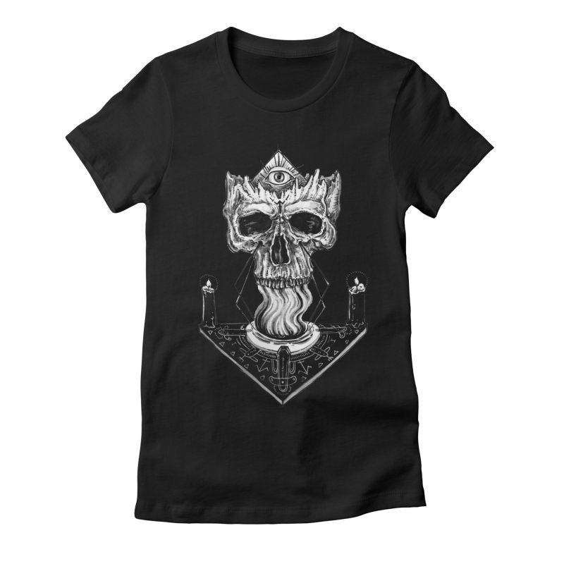 NECROMANCY Women's Fitted T-Shirt by Haunted Meat