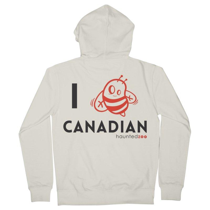 I BEE CANADIAN Men's Zip-Up Hoody by hauntedzoo's Artist Shop