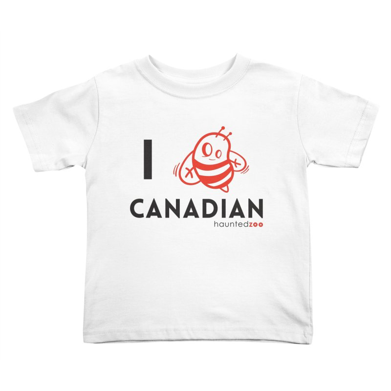 I BEE CANADIAN Kids Toddler T-Shirt by hauntedzoo's Artist Shop