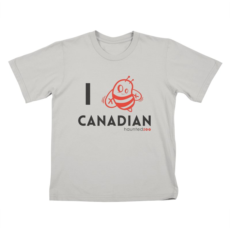 I BEE CANADIAN Kids T-shirt by hauntedzoo's Artist Shop