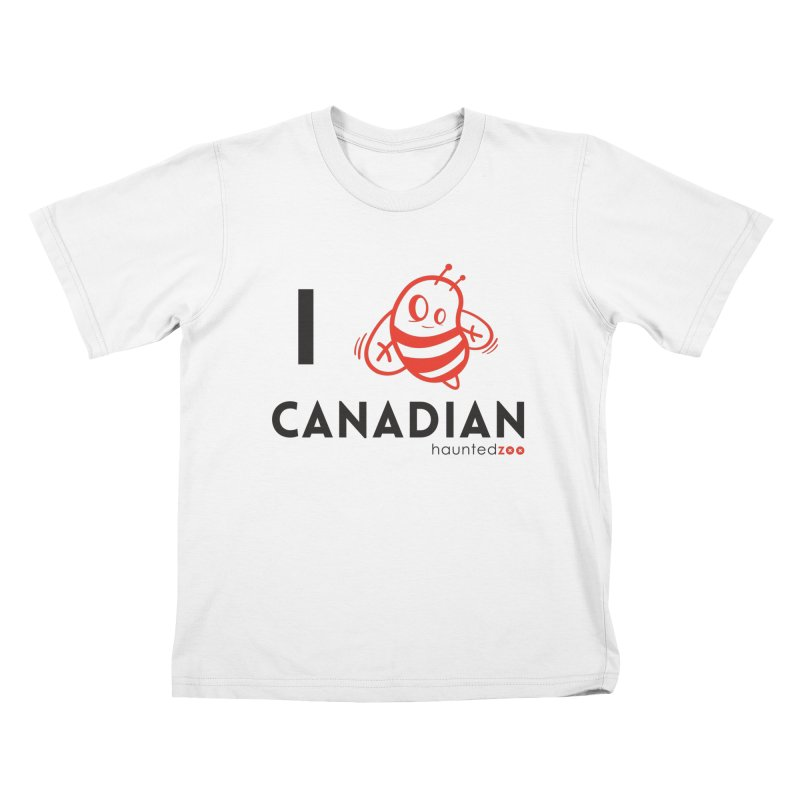 I BEE CANADIAN Kids T-shirt by hauntedzoo's Artist Shop