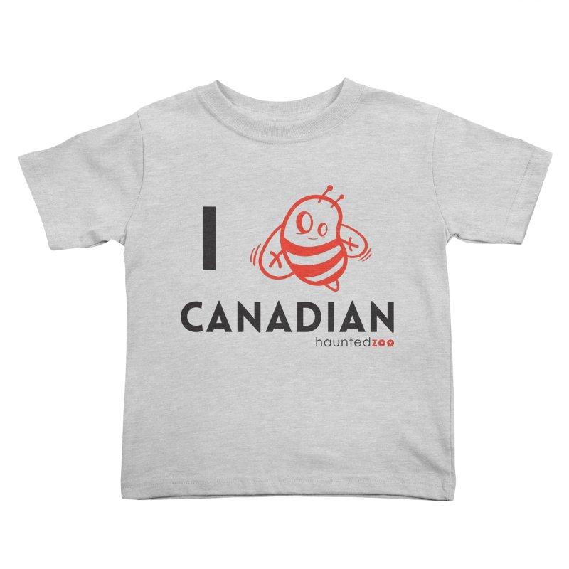 I BEE CANADIAN Kids Toddler T-Shirt by hauntedzoo's Artist Shop
