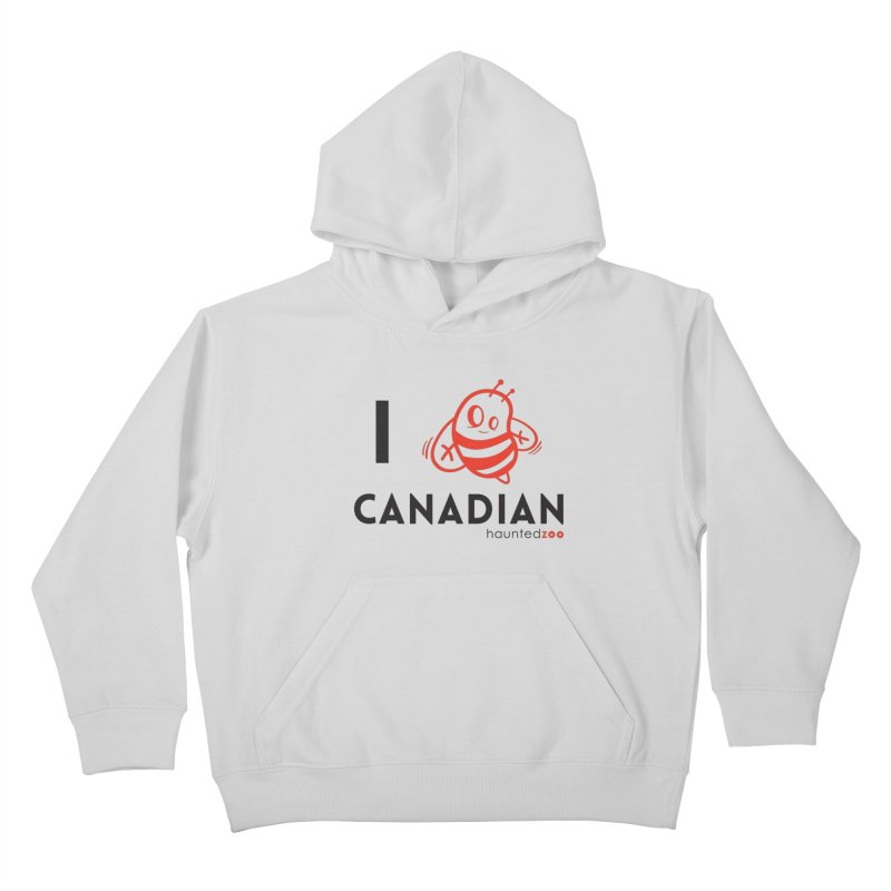I BEE CANADIAN Kids Pullover Hoody by hauntedzoo's Artist Shop