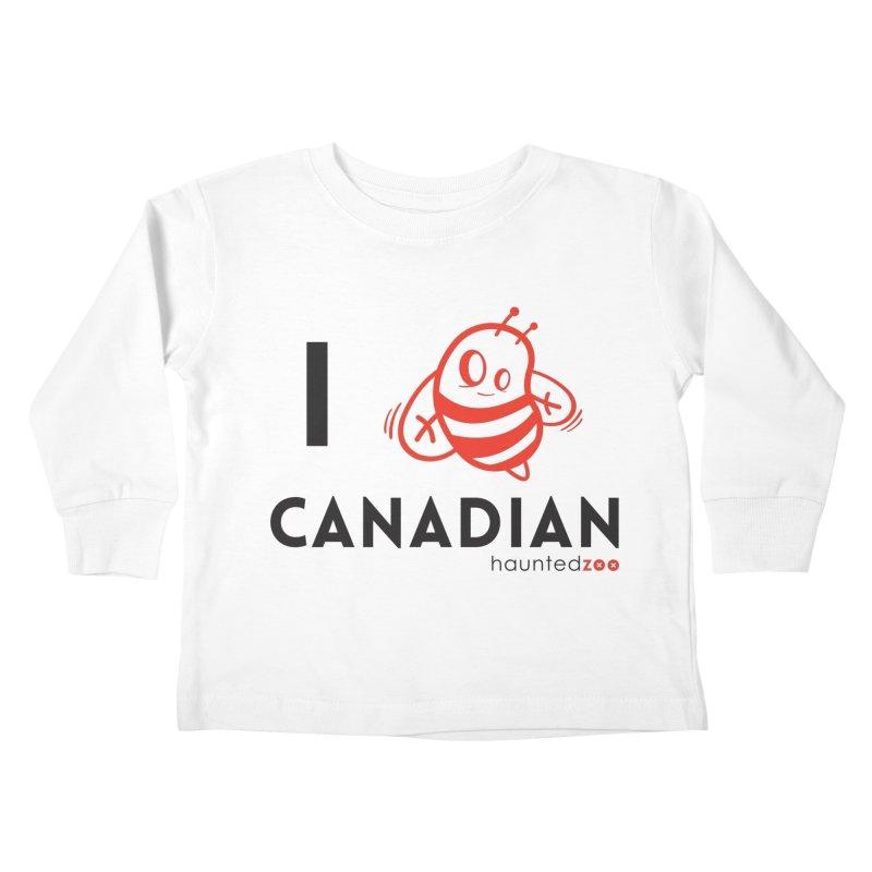 I BEE CANADIAN Kids Toddler Longsleeve T-Shirt by hauntedzoo's Artist Shop