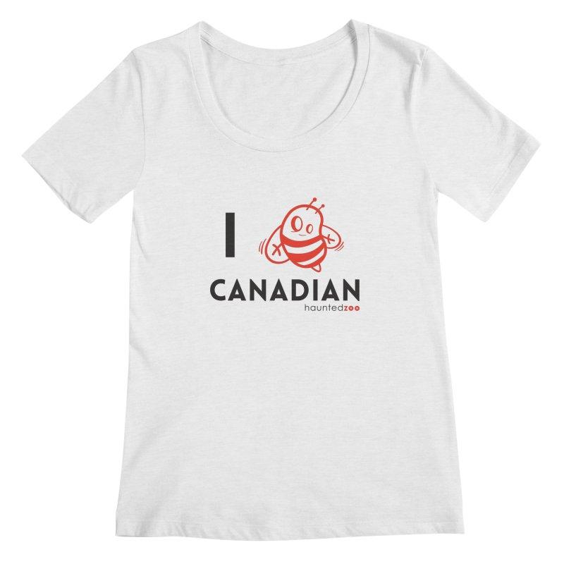 I BEE CANADIAN Women's Scoopneck by hauntedzoo's Artist Shop