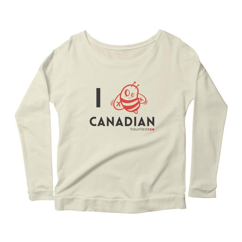 I BEE CANADIAN Women's Longsleeve Scoopneck  by hauntedzoo's Artist Shop