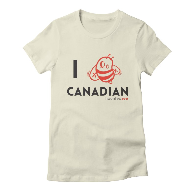 I BEE CANADIAN Women's Fitted T-Shirt by hauntedzoo's Artist Shop