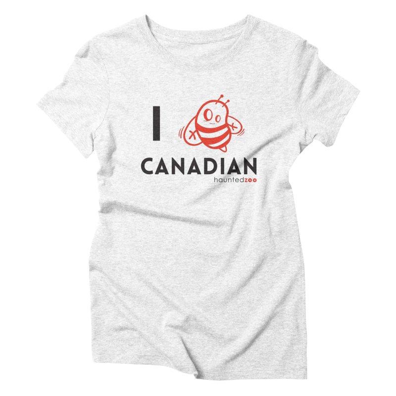I BEE CANADIAN Women's Triblend T-shirt by hauntedzoo's Artist Shop