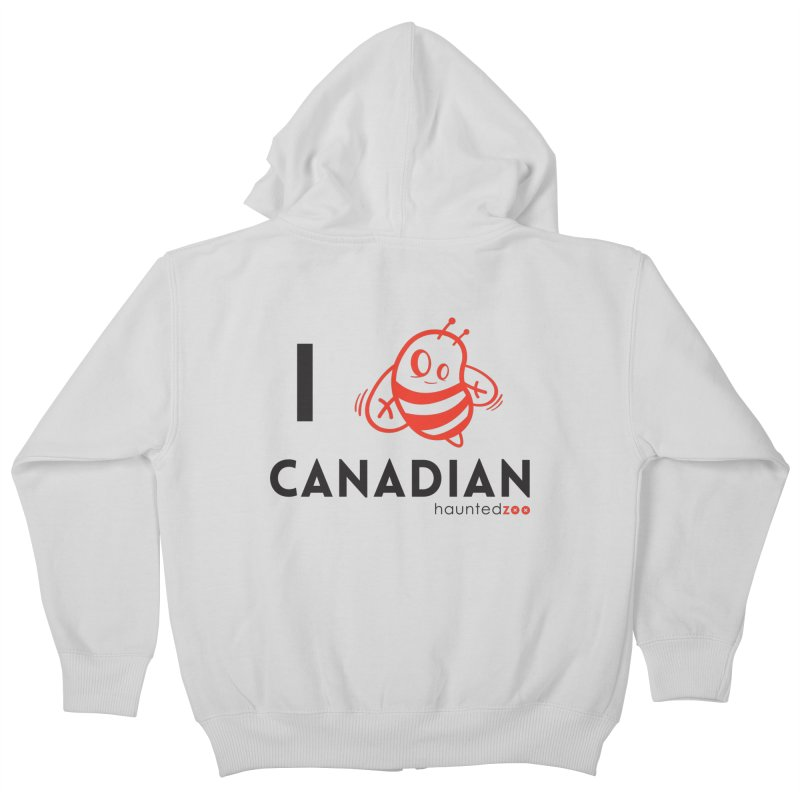 I BEE CANADIAN Kids Zip-Up Hoody by hauntedzoo's Artist Shop