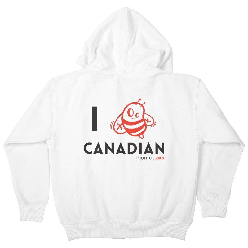 I BEE CANADIAN Kids Zip-Up Hoody by hauntedzoo's Artist Shop