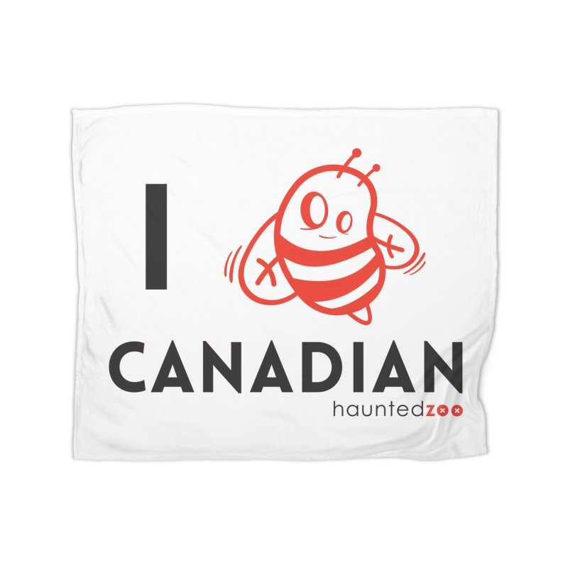 I BEE CANADIAN Home Blanket by hauntedzoo's Artist Shop