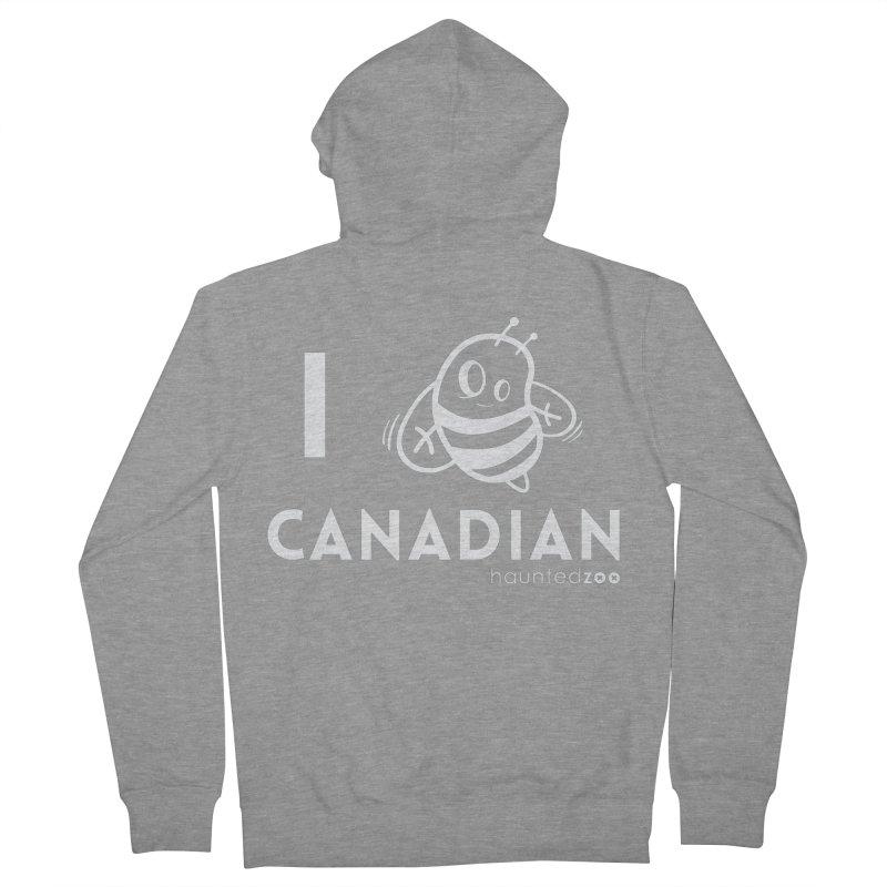 I BEE CANADIAN RED Men's Zip-Up Hoody by hauntedzoo's Artist Shop