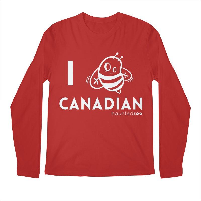 I BEE CANADIAN RED Men's Longsleeve T-Shirt by hauntedzoo's Artist Shop