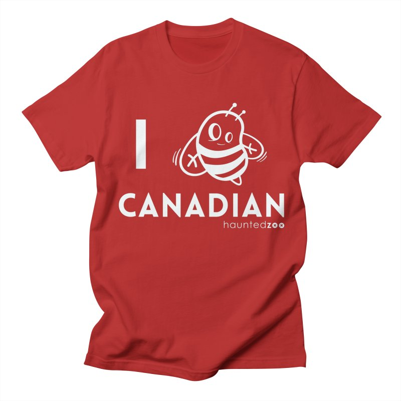 I BEE CANADIAN RED Women's Unisex T-Shirt by hauntedzoo's Artist Shop