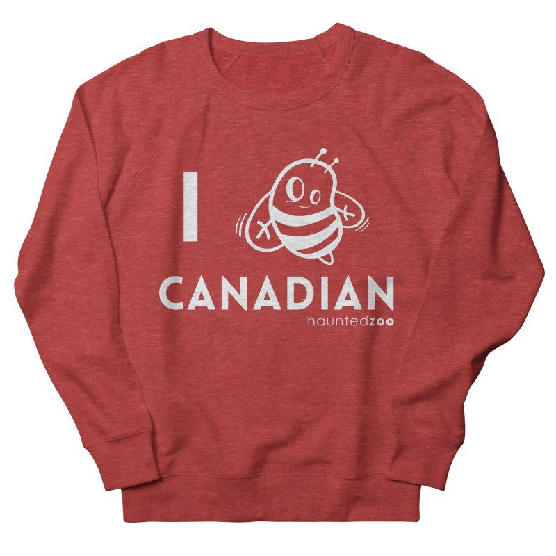I BEE CANADIAN RED Women's Sweatshirt by hauntedzoo's Artist Shop