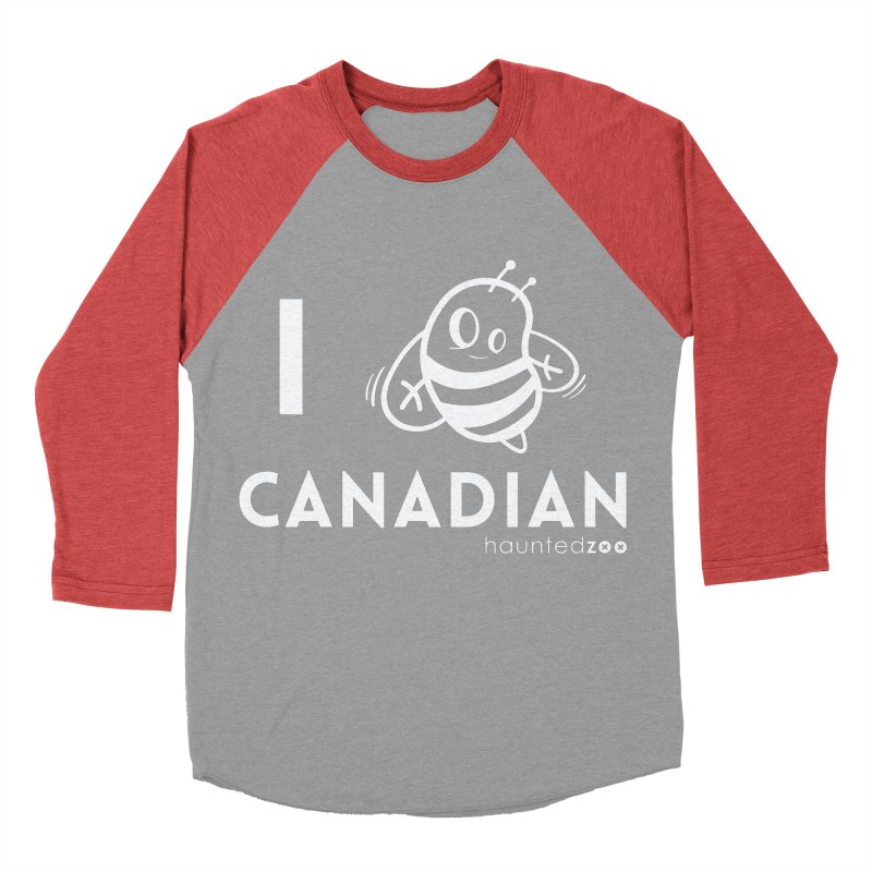 I BEE CANADIAN RED Women's Baseball Triblend T-Shirt by hauntedzoo's Artist Shop