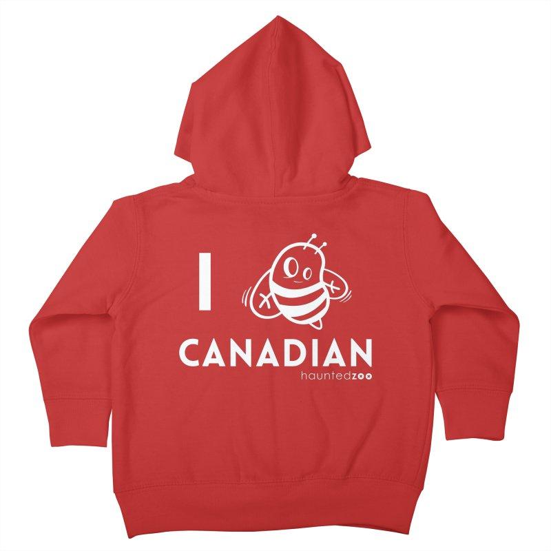 I BEE CANADIAN RED Kids Toddler Zip-Up Hoody by hauntedzoo's Artist Shop