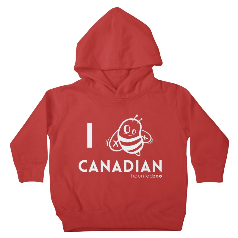 I BEE CANADIAN RED Kids Toddler Pullover Hoody by hauntedzoo's Artist Shop