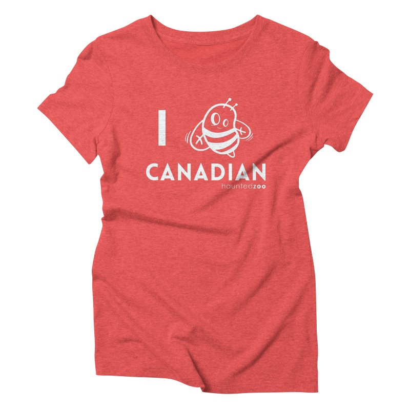 I BEE CANADIAN RED Women's Triblend T-shirt by hauntedzoo's Artist Shop