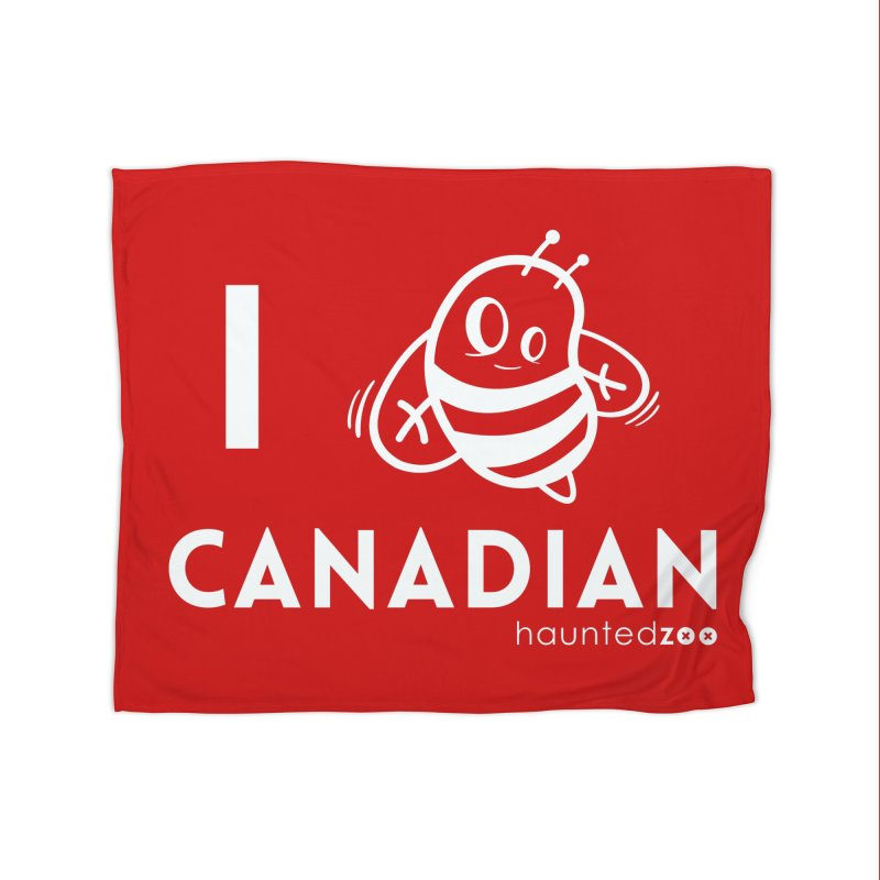 I BEE CANADIAN RED Home Blanket by hauntedzoo's Artist Shop