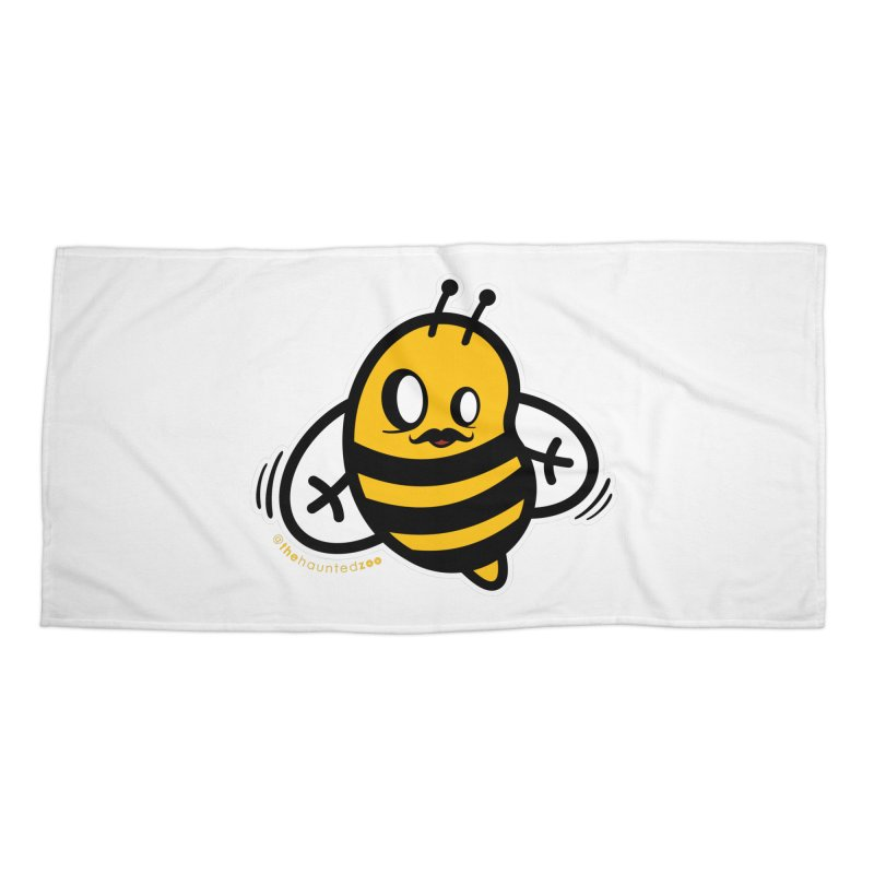 MOVEMBER bee Accessories Beach Towel by hauntedzoo's Artist Shop