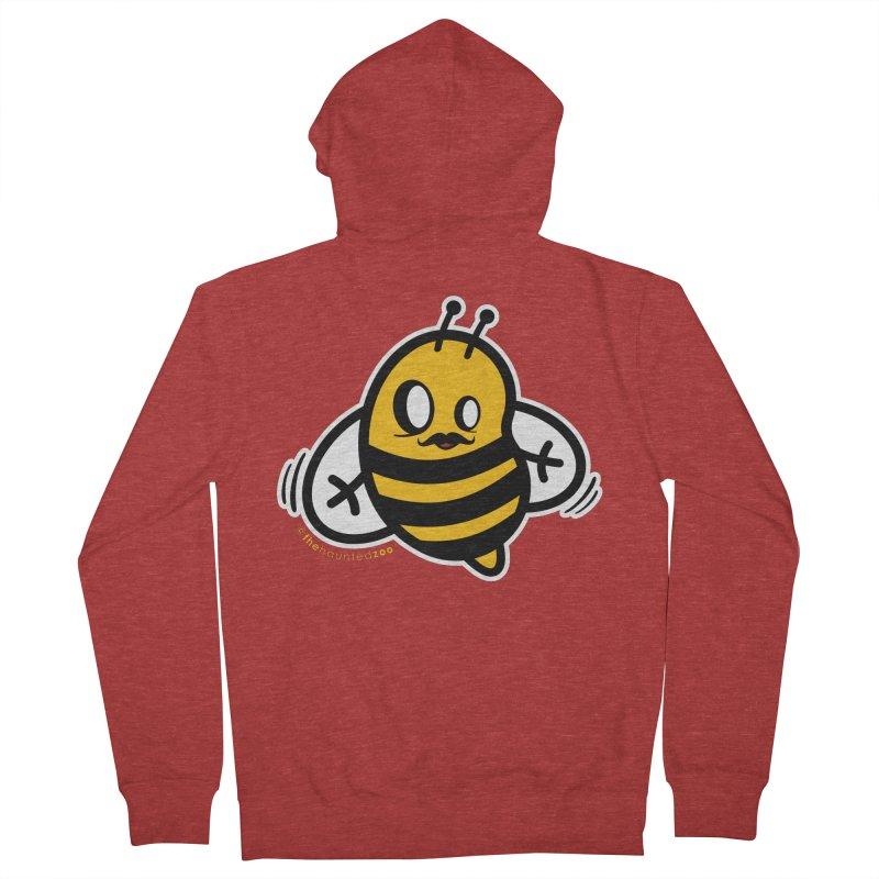MOVEMBER bee Men's Zip-Up Hoody by hauntedzoo's Artist Shop