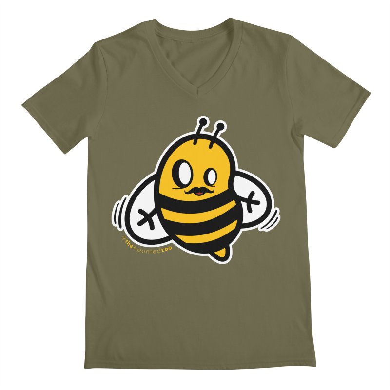MOVEMBER bee Men's V-Neck by hauntedzoo's Artist Shop