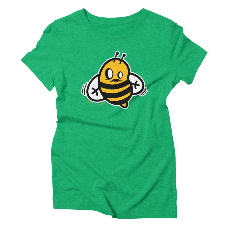 MOVEMBER bee Women's Triblend T-Shirt by hauntedzoo's Artist Shop
