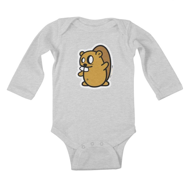 Spanky Kids Baby Longsleeve Bodysuit by hauntedzoo's Artist Shop