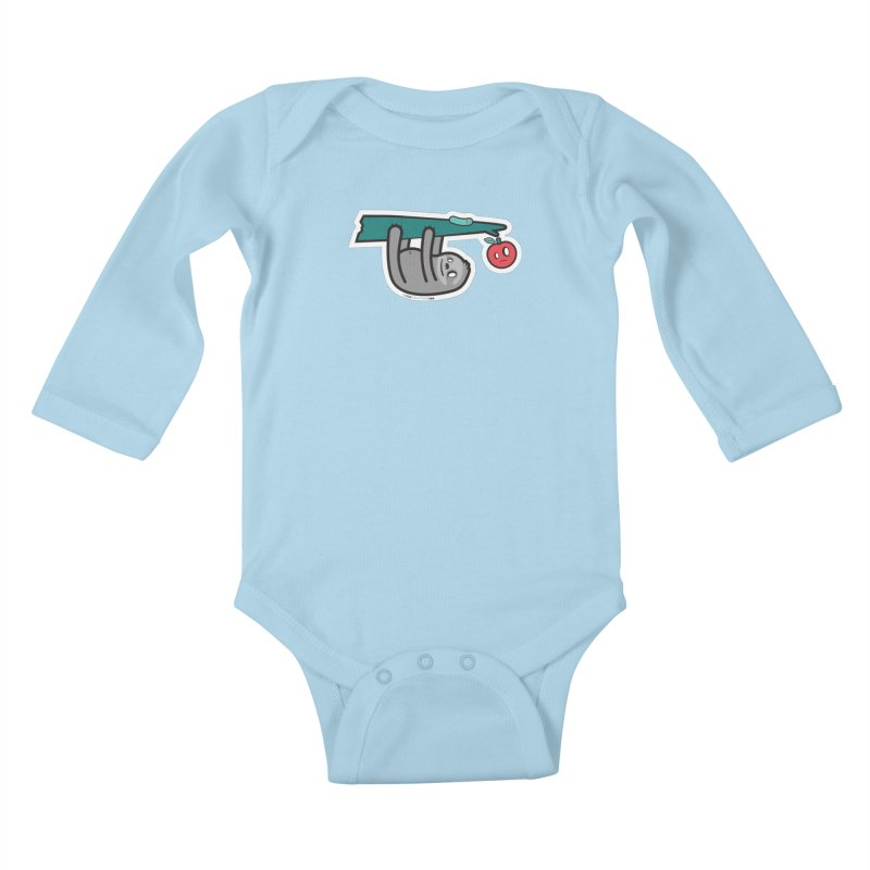 Sloth Kids Baby Longsleeve Bodysuit by hauntedzoo's Artist Shop