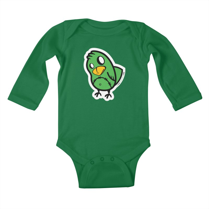 Chirps Kids Baby Longsleeve Bodysuit by hauntedzoo's Artist Shop