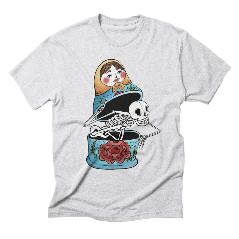 Matryoshka Skeleton Men's T-Shirt by Rhymes With Hell Studio