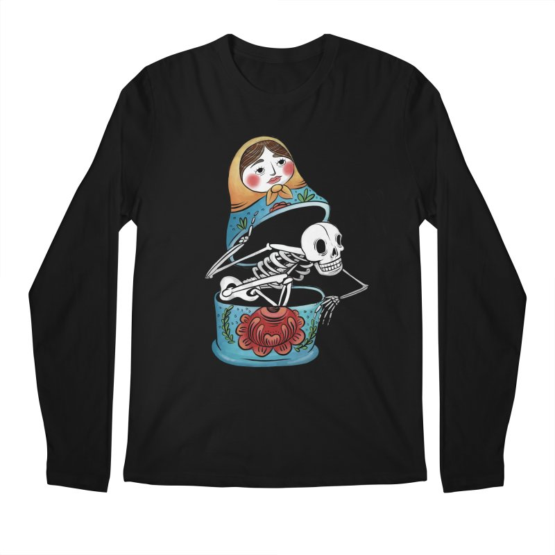 Matryoshka Skeleton Men's Longsleeve T-Shirt by Rhymes With Hell Studio