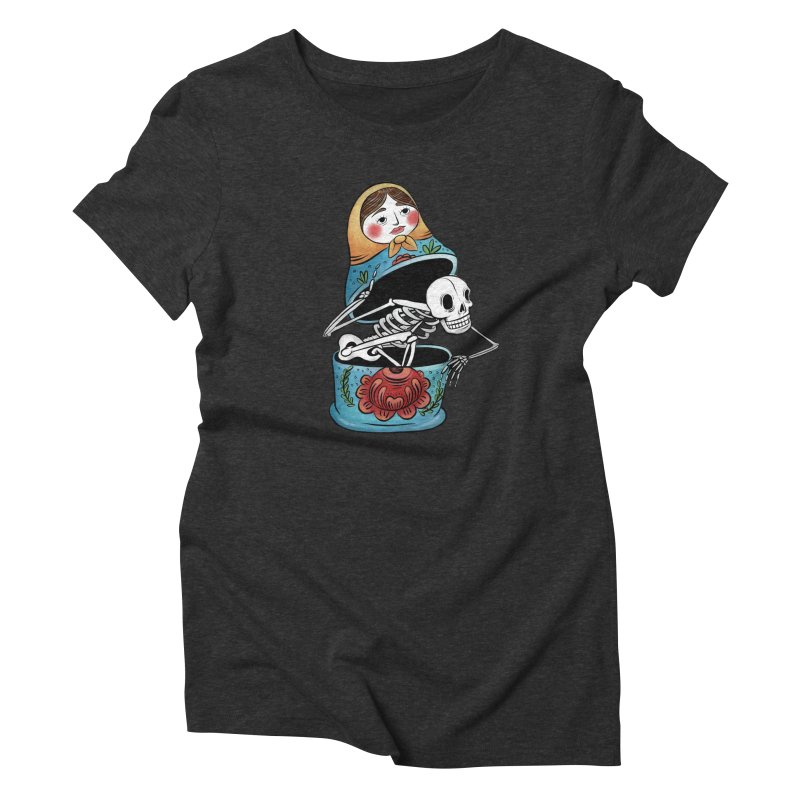 Matryoshka Skeleton Women's T-Shirt by Rhymes With Hell Studio