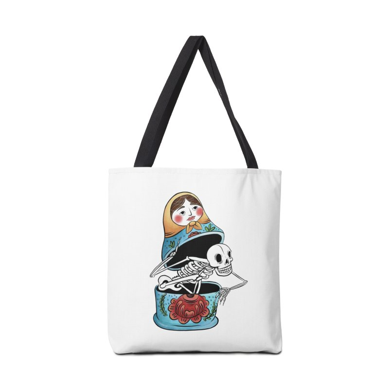 Matryoshka Skeleton Accessories Bag by Rhymes With Hell Studio