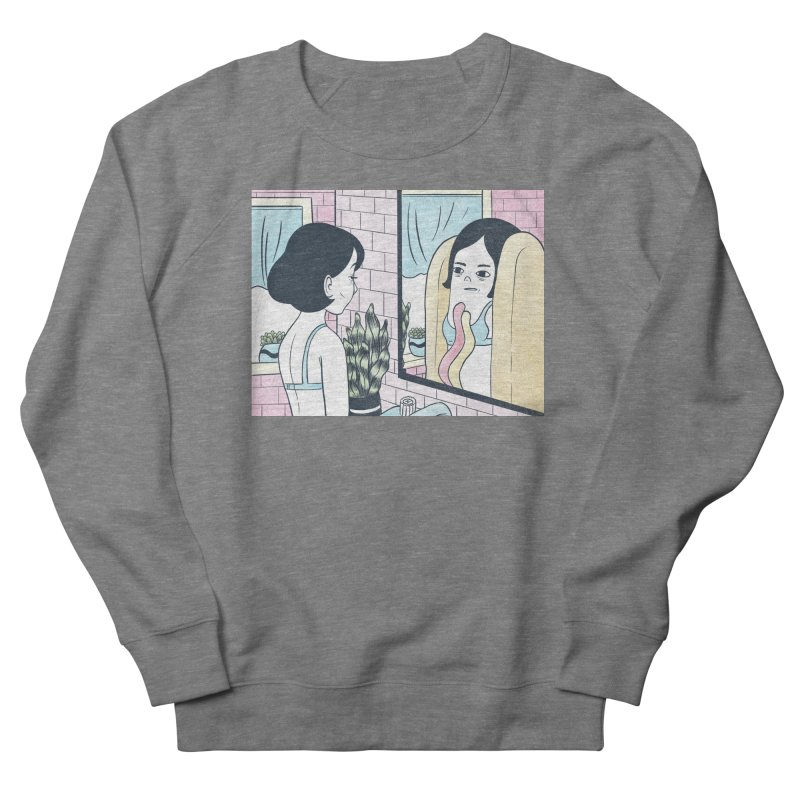 Hotdog Reflections Women's French Terry Sweatshirt by Rhymes With Hell Studio