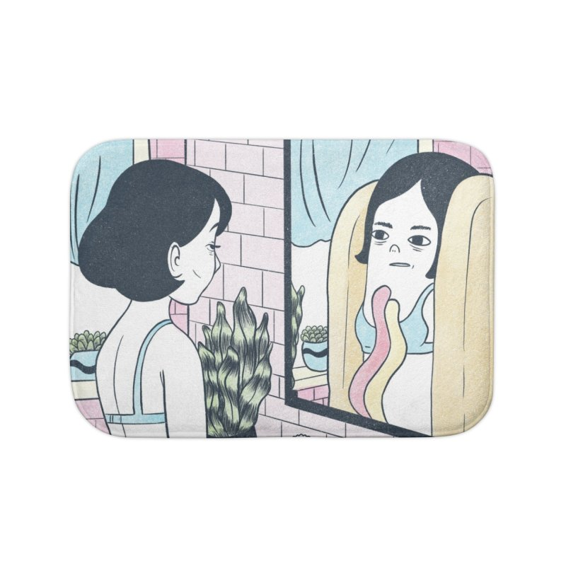 Hotdog Reflections Home Bath Mat by Rhymes With Hell Studio