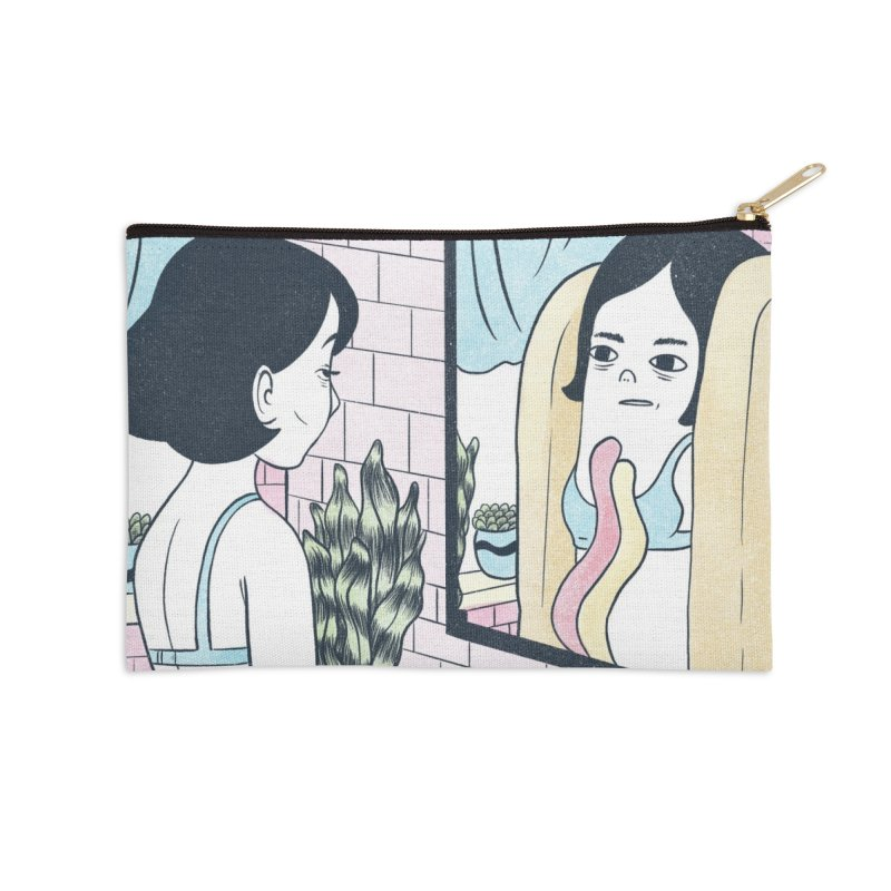 Hotdog Reflections Accessories Zip Pouch by Rhymes With Hell Studio