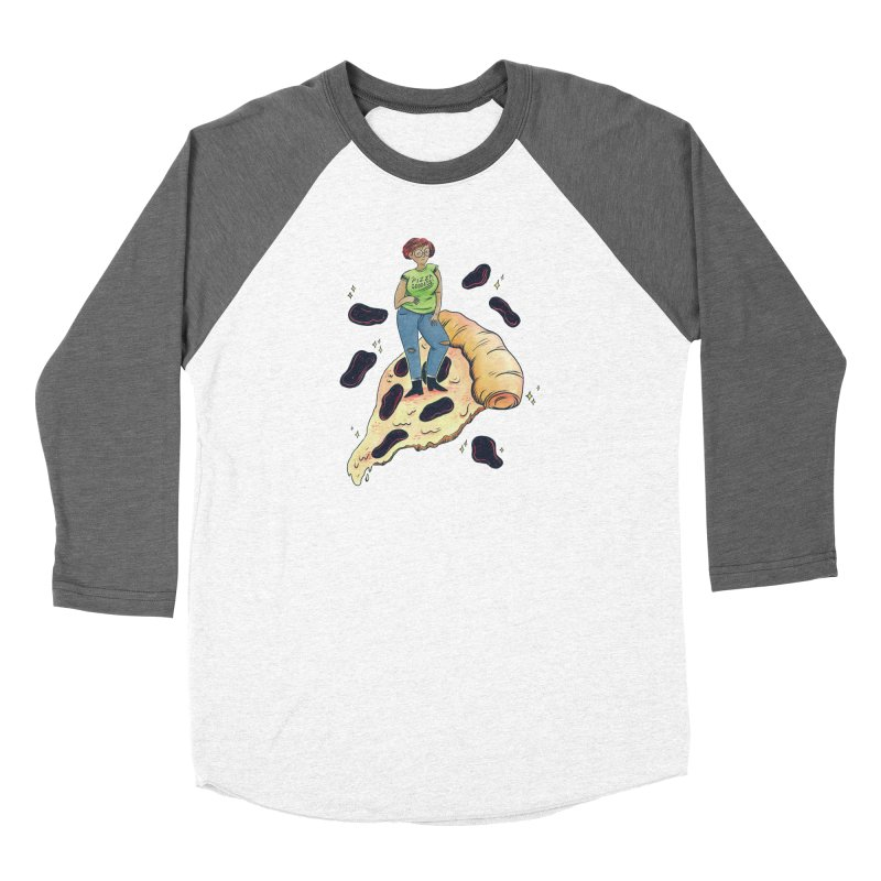 Pizza Goddess Men's Baseball Triblend Longsleeve T-Shirt by Rhymes With Hell Studio